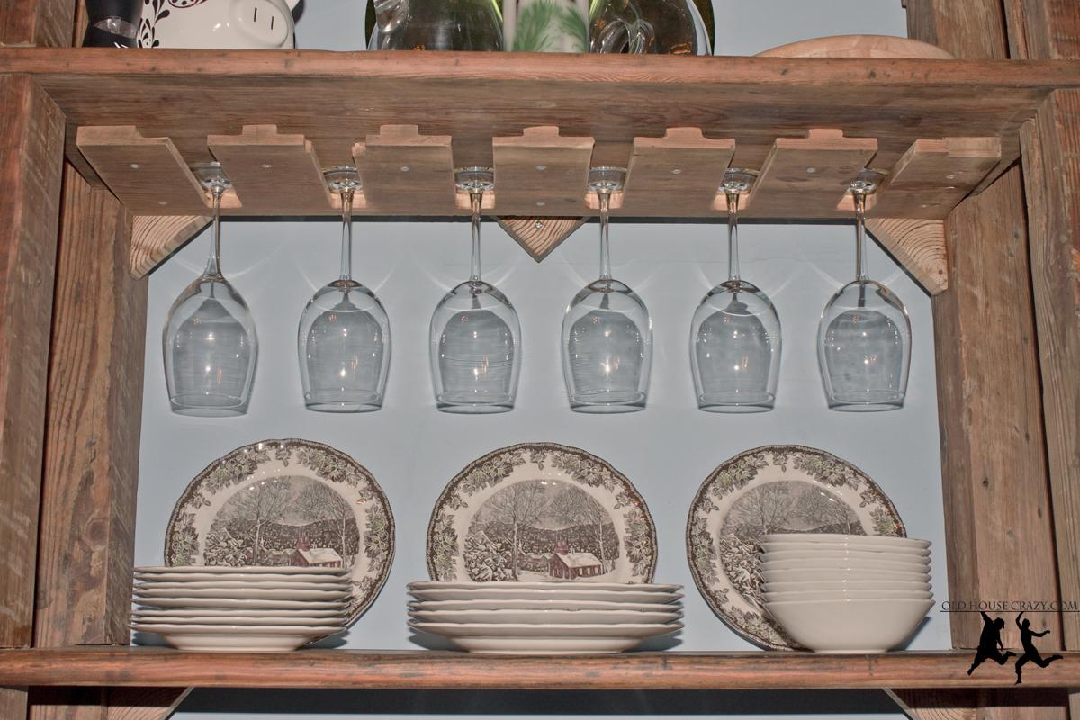 How To Make A Wine Glass Rack Shelf