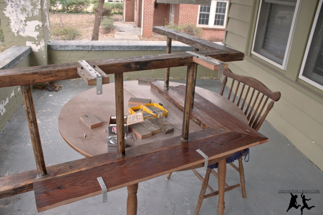 DIY Make Ladder Bookshelf old barn wood furniture plans Plans