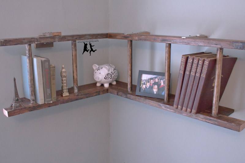 wooden ladder bookshelf plans