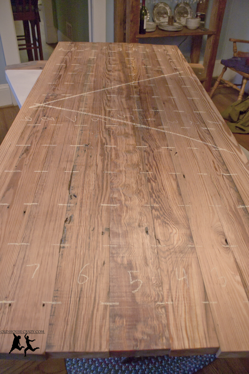Reclaimed Heart Pine Farmhouse Table Diy Part 1