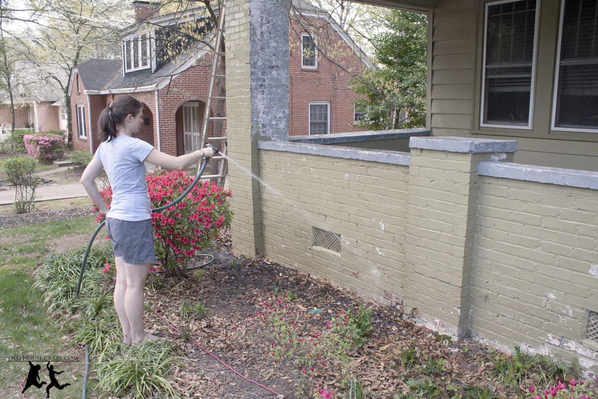 Painting The Porch And Foundation Diy Old House Crazy