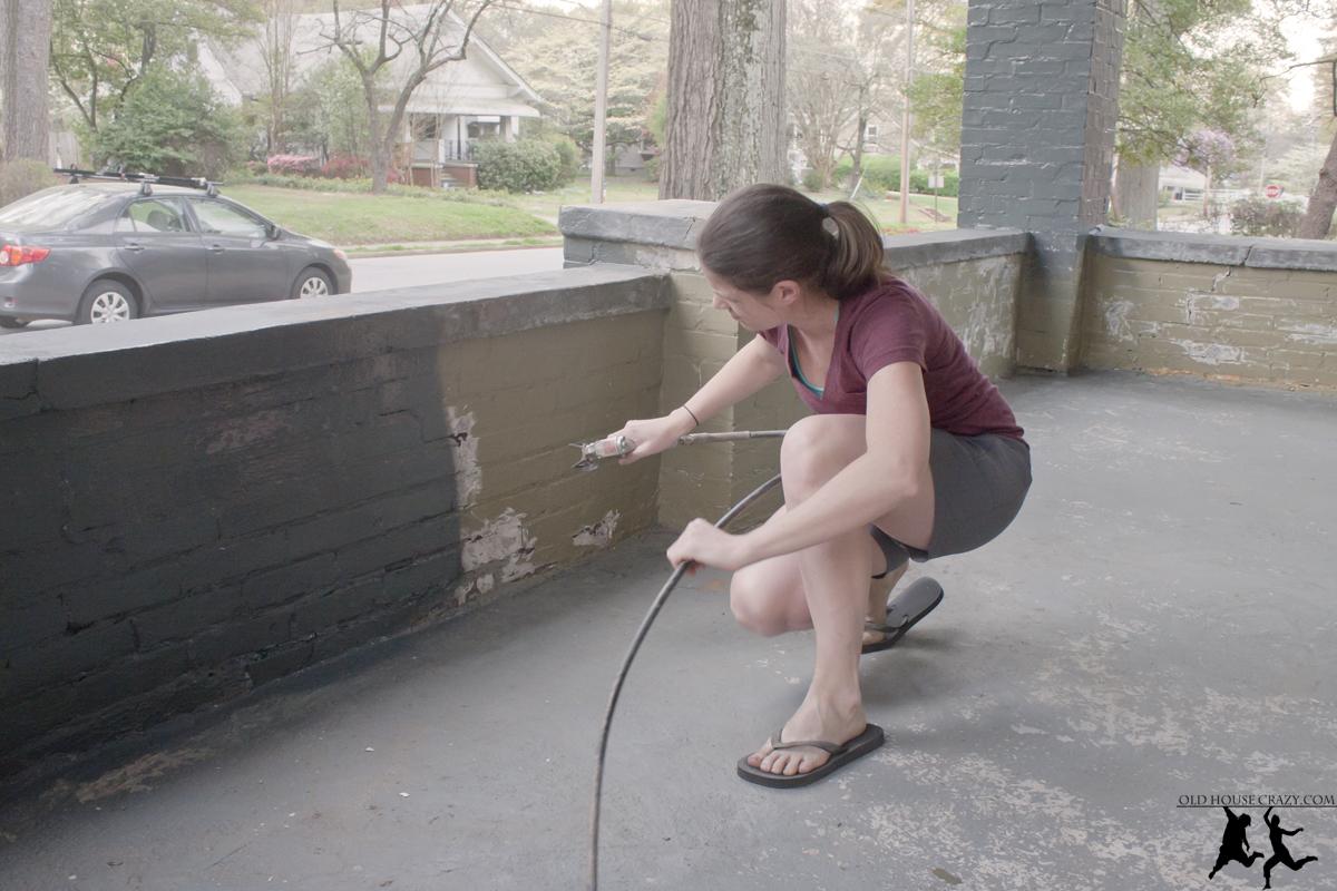 Diy painting a brick house