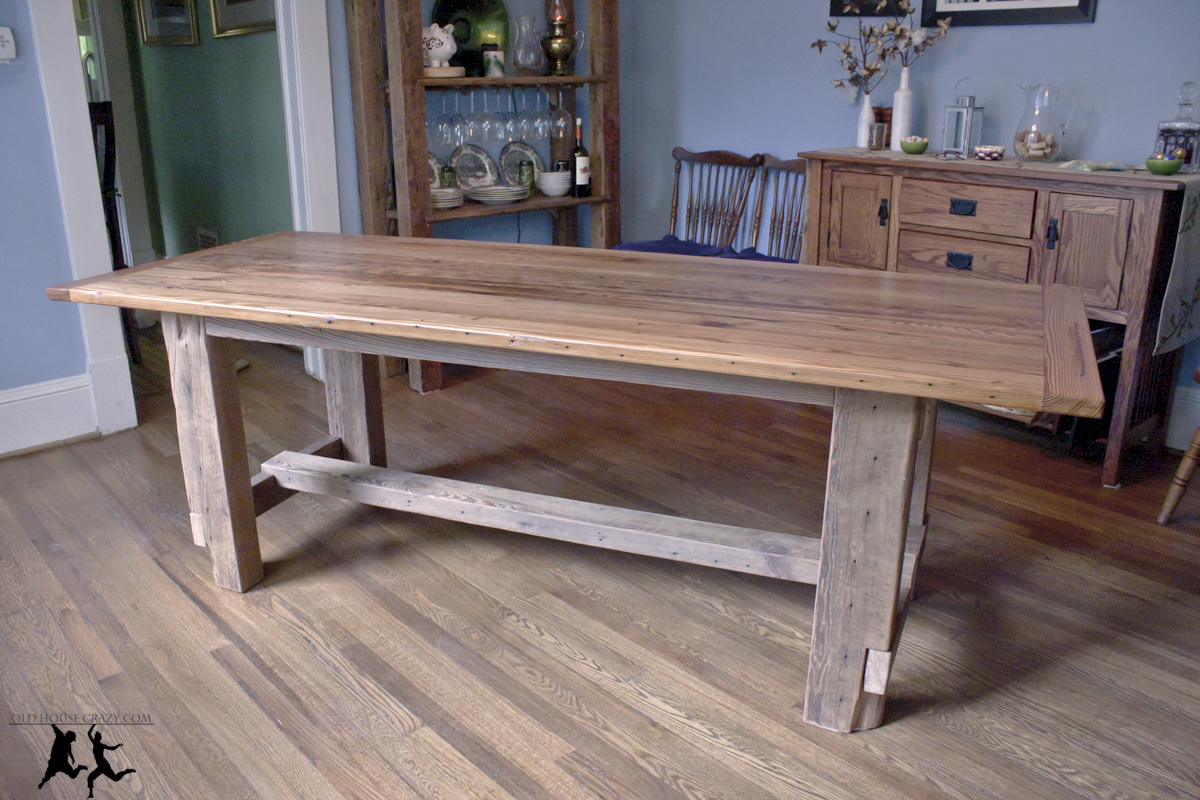 Reclaimed Heart Pine Farmhouse Table – DIY – Part 5 – Final Assembly ...