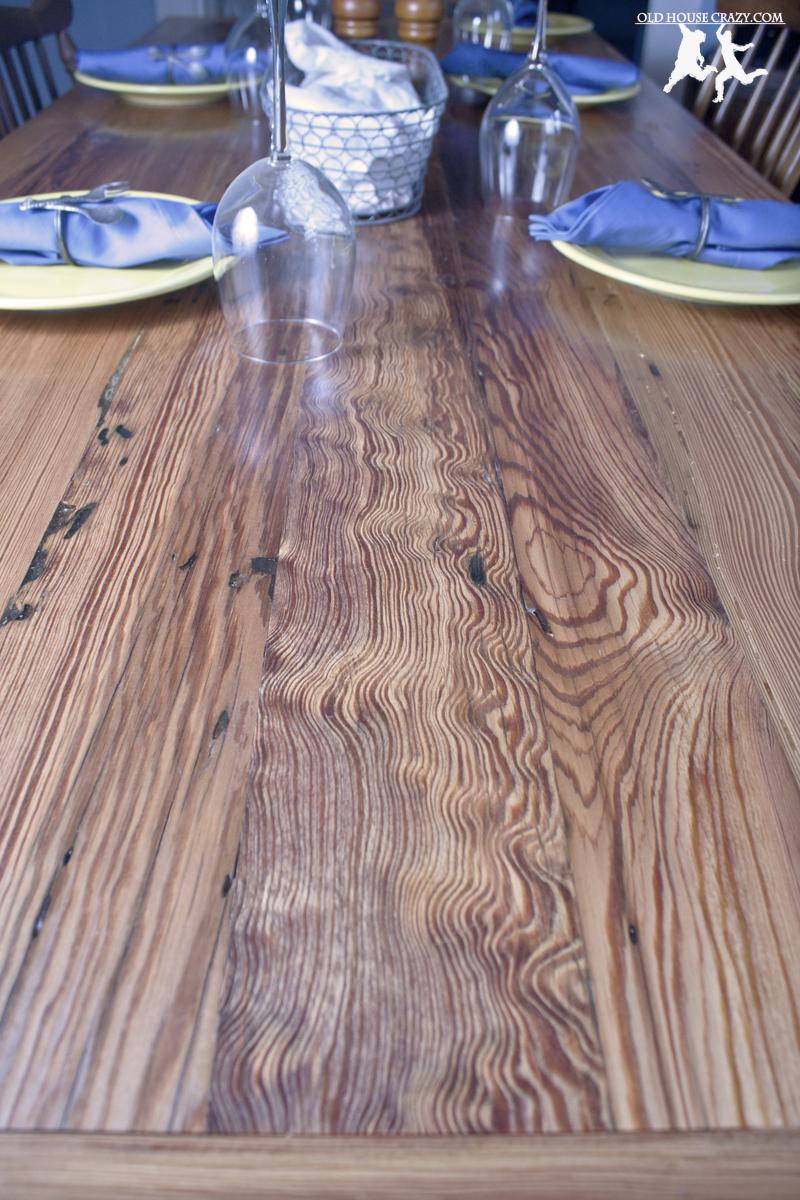 Reclaimed Heart Pine Farmhouse Table – DIY – Part 5 ...
