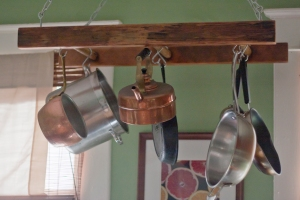 Old House Crazy - Ladder Pot Rack 01
