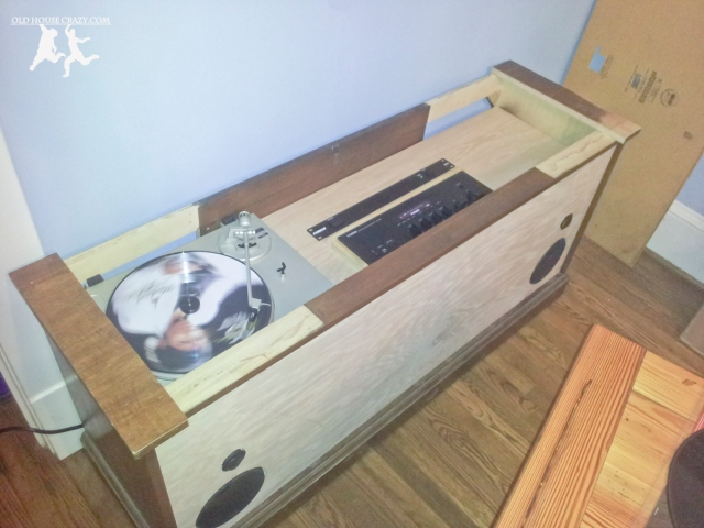 Old House Crazy - DIY - Restore an Old Stereo Console - Nearly Finished