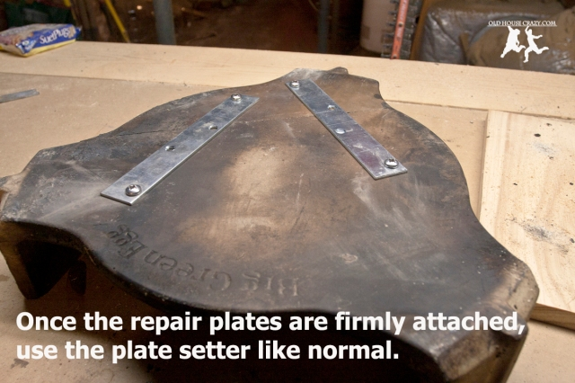 Old House Crazy - DIY - Fix a Broken Big Green Egg Plate Setter - 06a