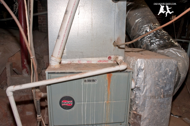 Old House Crazy - DIY - Install a Vent Flue for a Condensing Gas Furnace - 95% Efficient - 02