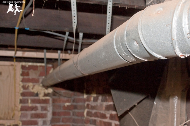 Old House Crazy - DIY - Install a Vent Flue for a Condensing Gas Furnace - 95% Efficient - 05