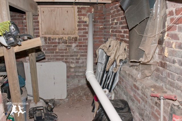Old House Crazy - DIY - Install a Vent Flue for a Condensing Gas Furnace - 95% Efficient - 07