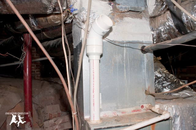 Old House Crazy - DIY - Install a Vent Flue for a Condensing Gas Furnace - 95% Efficient - 08