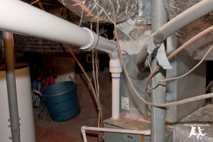 Old House Crazy - DIY - Install a Vent Flue for a Condensing Gas Furnace - 95% Efficient - 11