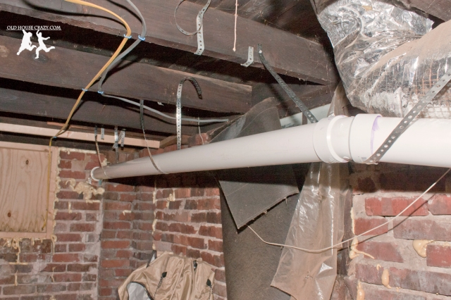 Old House Crazy - DIY - Install a Vent Flue for a Condensing Gas Furnace - 95% Efficient - 14