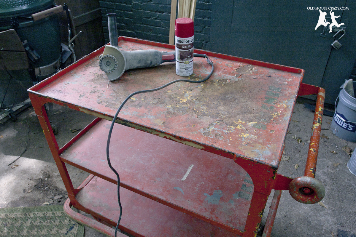 Old House Crazy   DIY   Repurpose Your Own Big Green Egg Cart   01