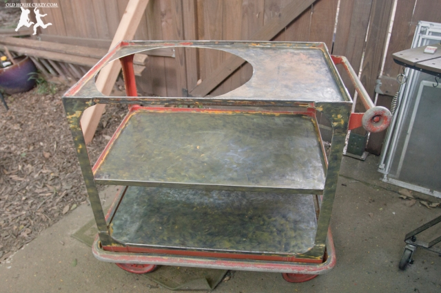 Old House Crazy - DIY - Repurpose Your Own Big Green Egg Cart - 05