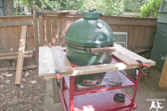 Old House Crazy - DIY - Repurpose Your Own Big Green Egg Cart - 10