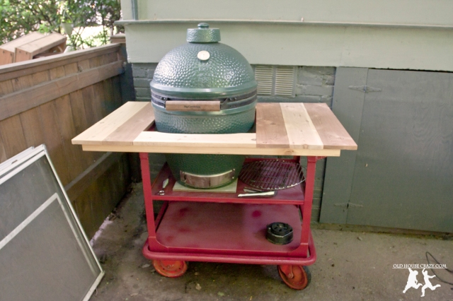 Old House Crazy - DIY - Repurpose Your Own Big Green Egg Cart - 12