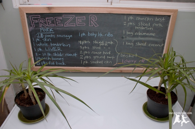 Old House Crazy - DIY - Organizing - Make a Chalkboard Menu for Your Freezer - 12