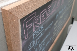 Old House Crazy - DIY - Organizing - Make a Chalkboard Menu for Your Freezer - 13